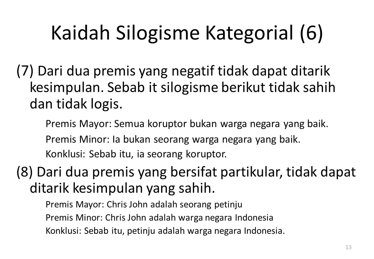 Kaidah Silogisme Kategorial (6)
