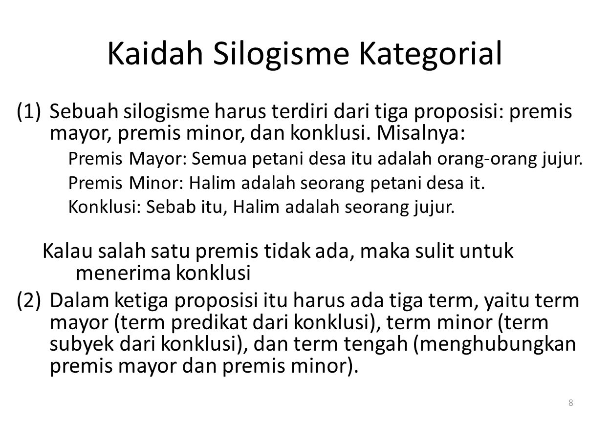Kaidah Silogisme Kategorial