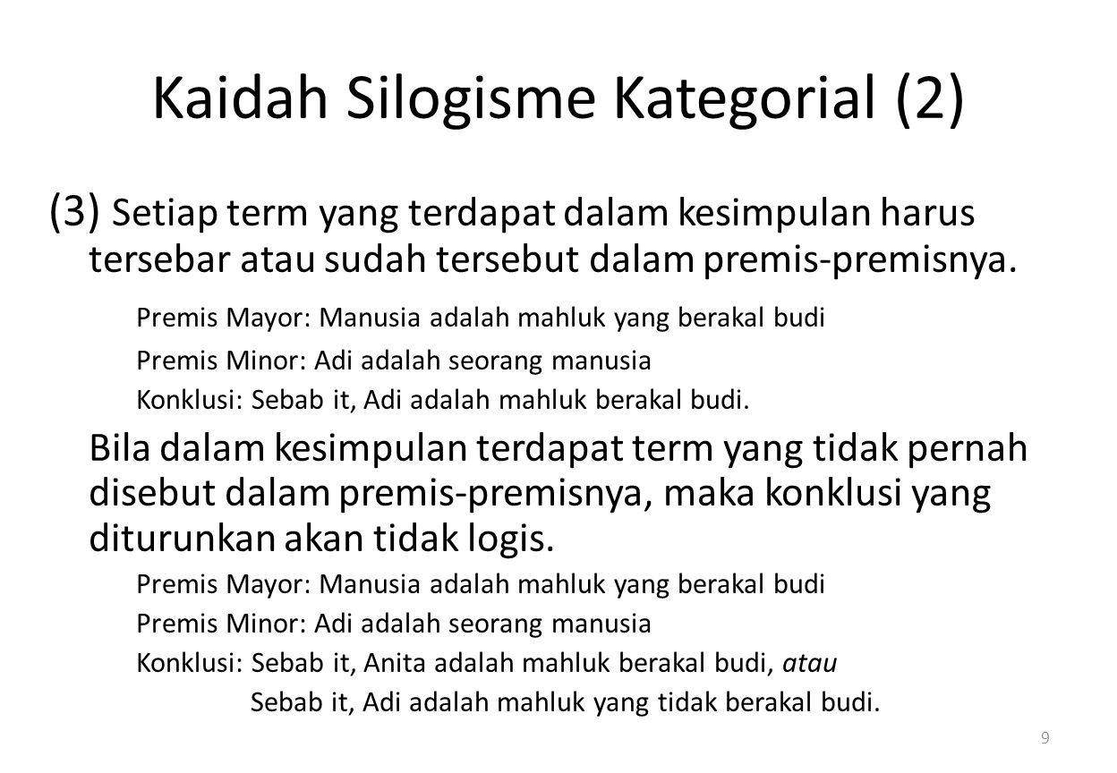 Kaidah Silogisme Kategorial (2)