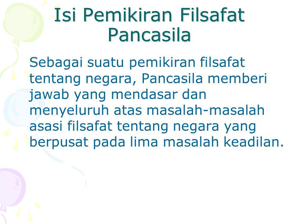 Isi Pemikiran Filsafat Pancasila