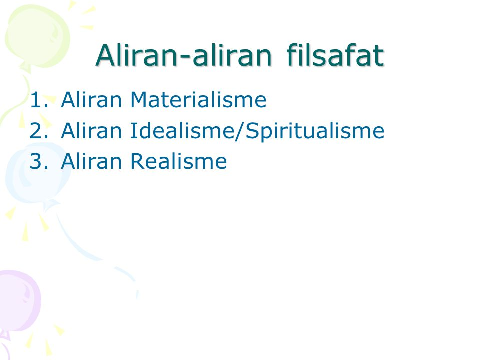 Aliran-aliran filsafat