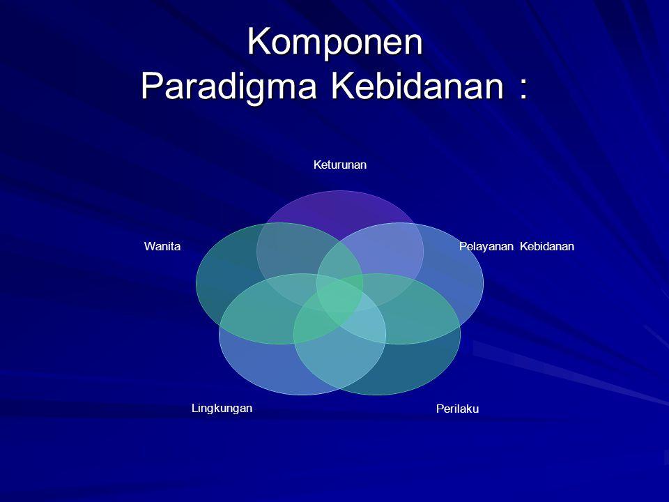 Komponen Paradigma Kebidanan :