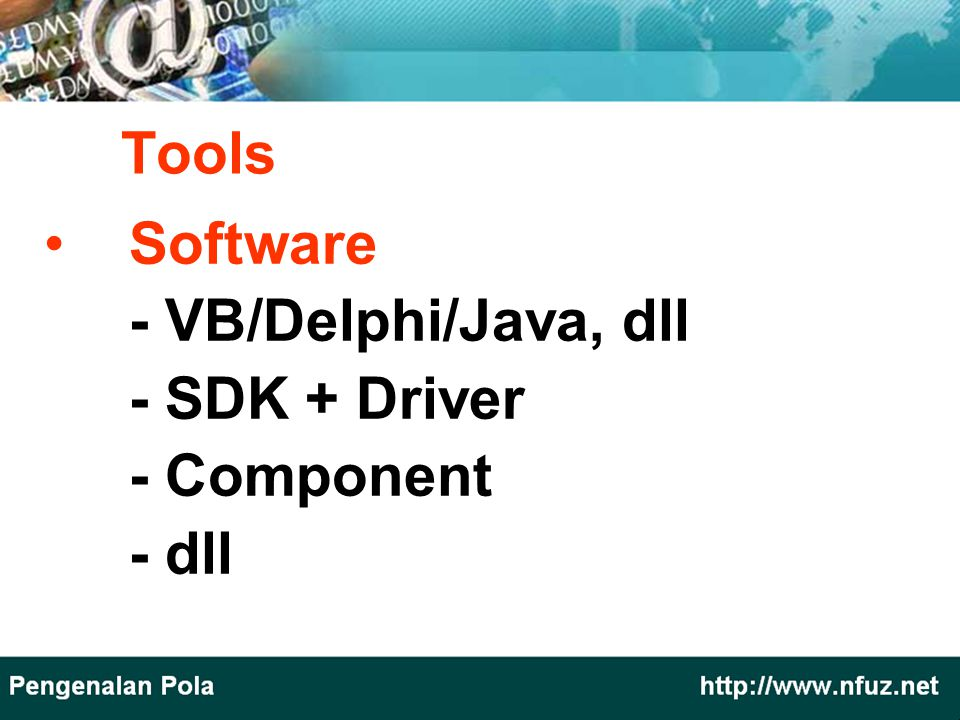 Tools Software - VB/Delphi/Java, dll - SDK + Driver - Component - dll