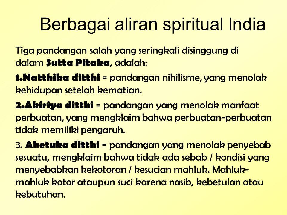 Berbagai aliran spiritual India