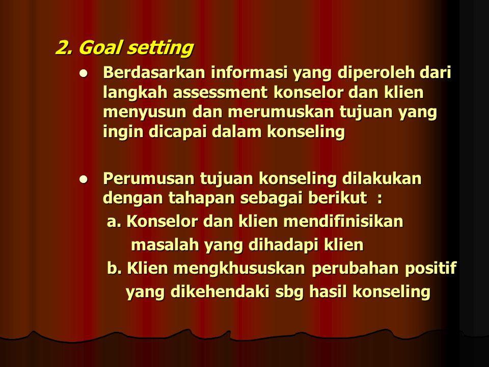 2. Goal setting