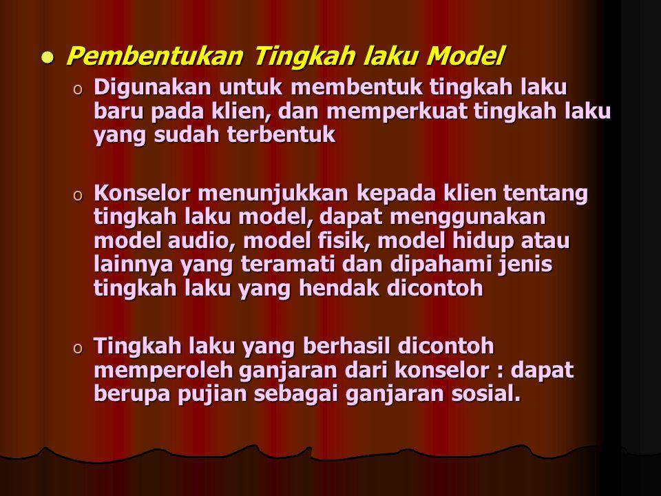 Pembentukan Tingkah laku Model