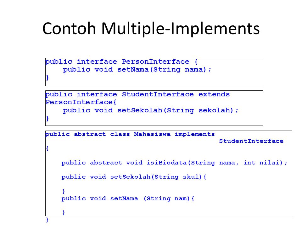Contoh Multiple-Implements