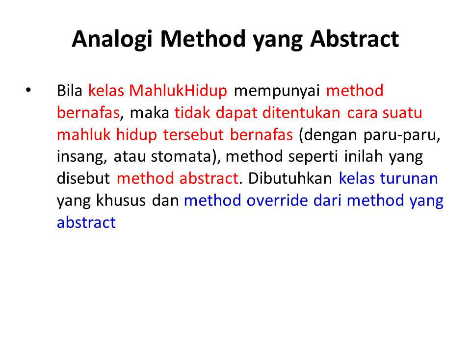 Analogi Method yang Abstract