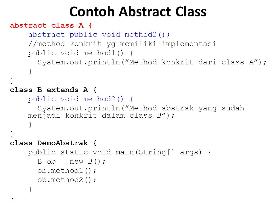 Contoh Abstract Class
