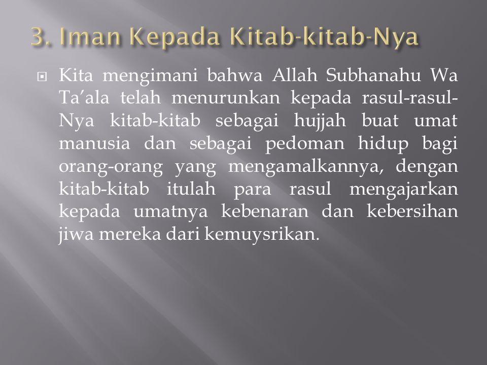3. Iman Kepada Kitab-kitab-Nya
