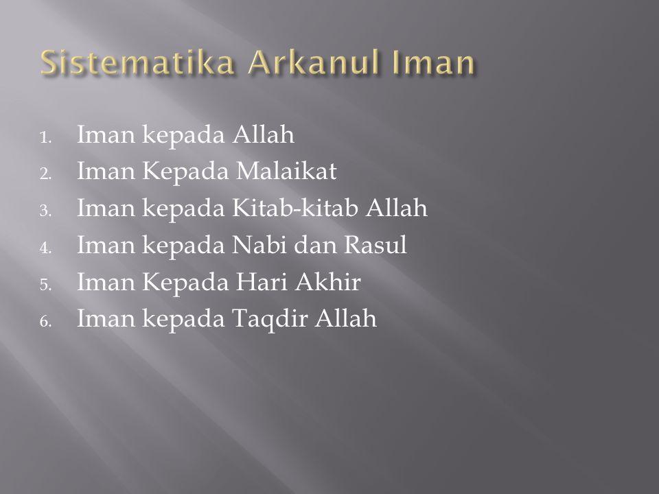 Sistematika Arkanul Iman
