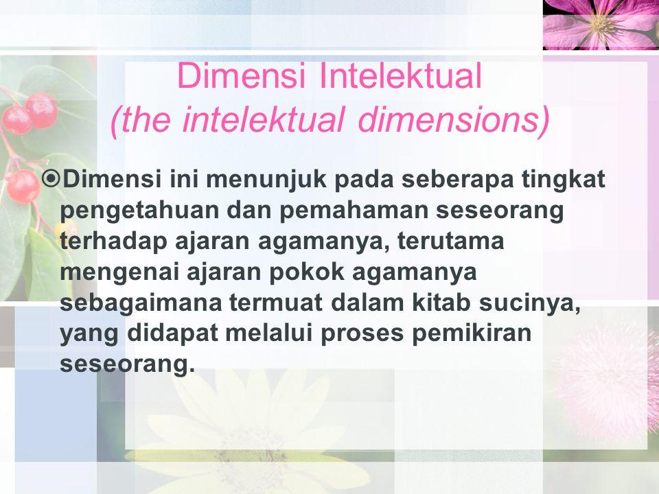 Dimensi Intelektual (the intelektual dimensions)