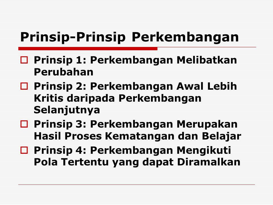 Prinsip-Prinsip Perkembangan