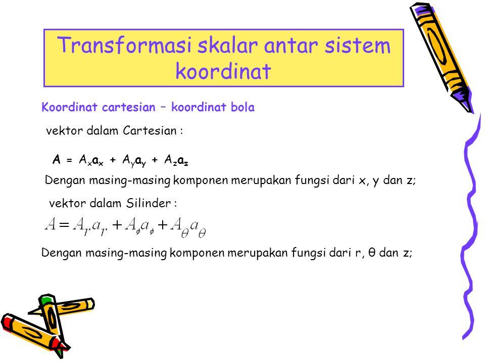 Transformasi skalar antar sistem koordinat