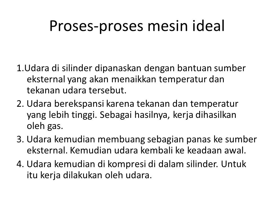 Proses-proses mesin ideal