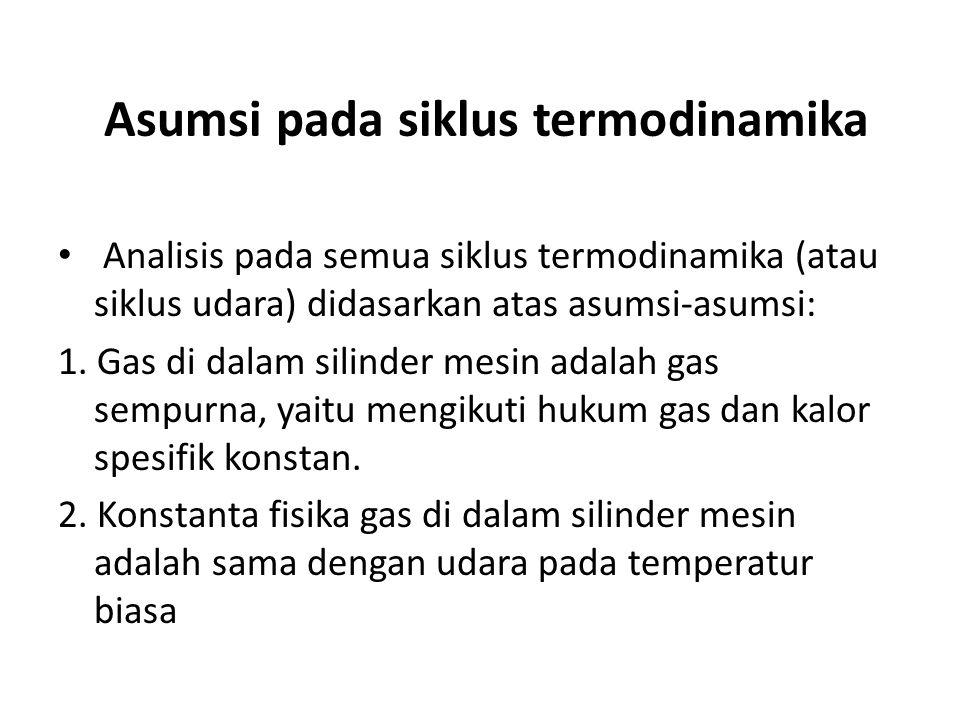 Asumsi pada siklus termodinamika