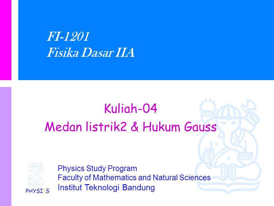 Medan listrik2 & Hukum Gauss