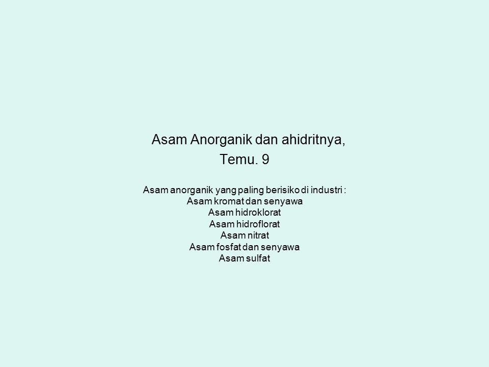 Asam Anorganik dan ahidritnya, Temu. 9