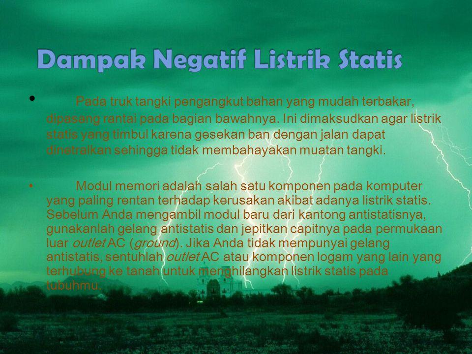 Dampak Negatif Listrik Statis