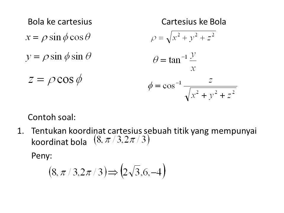Bola ke cartesius Cartesius ke Bola
