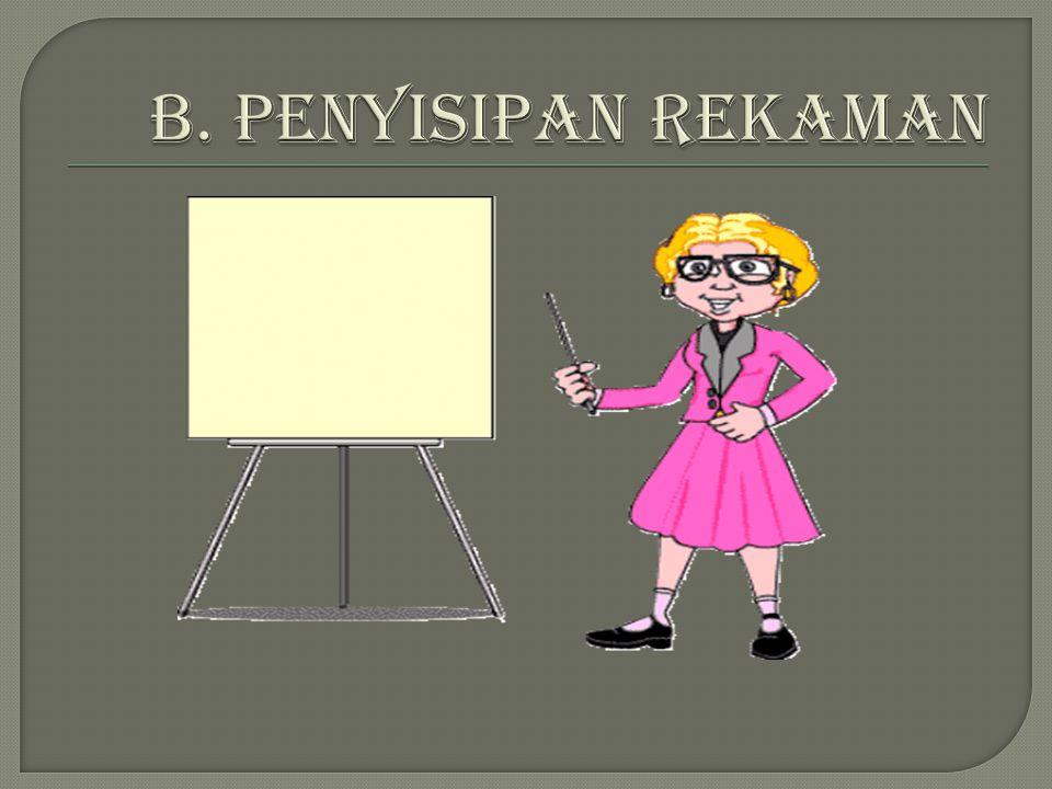 B. PENYISIPAN REKAMAN
