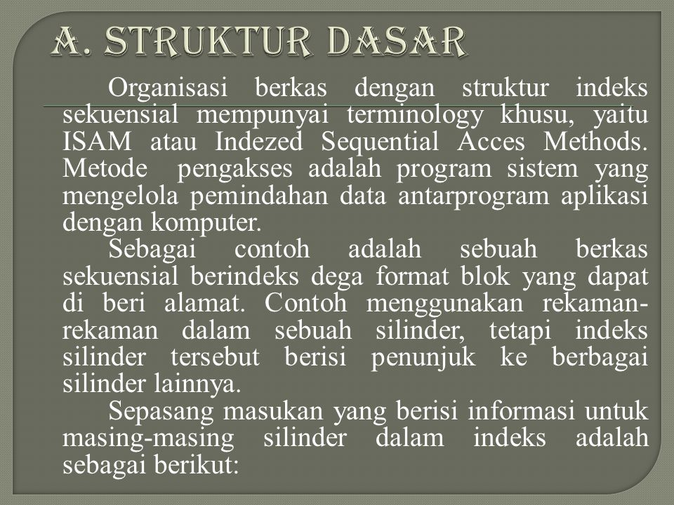 A. STRUKTUR DASAR