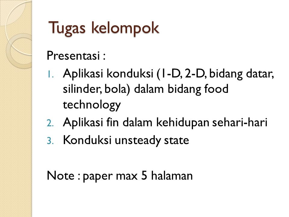 Tugas kelompok Presentasi :