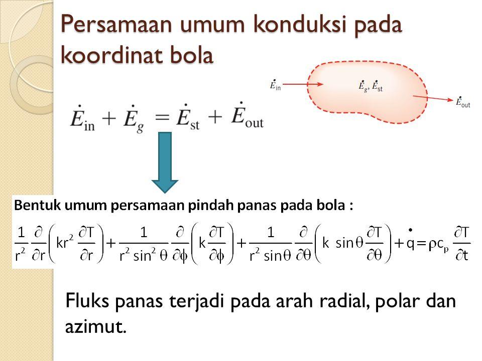 Persamaan umum konduksi pada koordinat bola