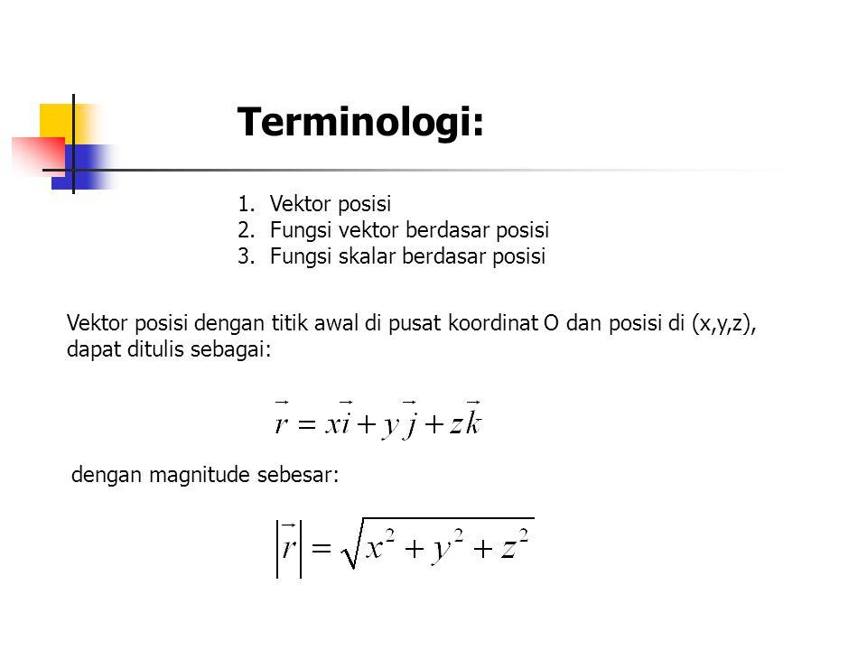 Terminologi: Vektor posisi Fungsi vektor berdasar posisi