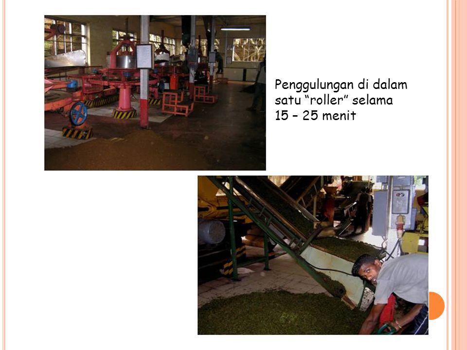 Penggulungan di dalam satu roller selama 15 – 25 menit