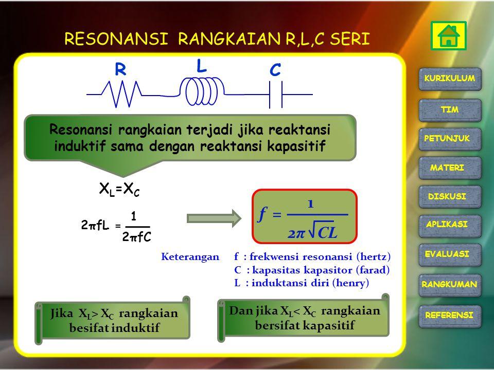 RESONANSI RANGKAIAN R,L,C SERI