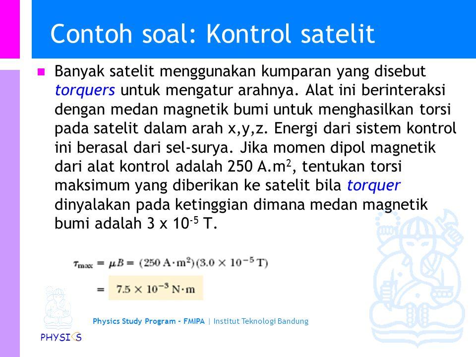 Contoh soal: Kontrol satelit