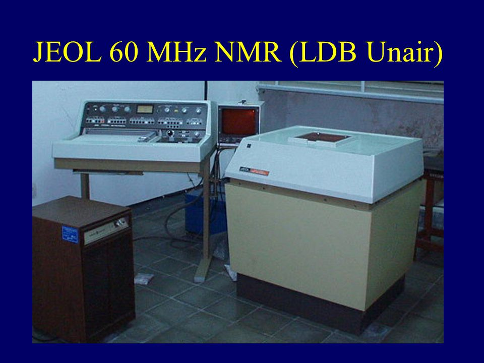 JEOL 60 MHz NMR (LDB Unair)
