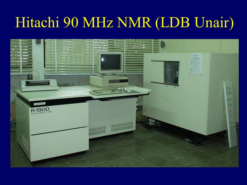 Hitachi 90 MHz NMR (LDB Unair)