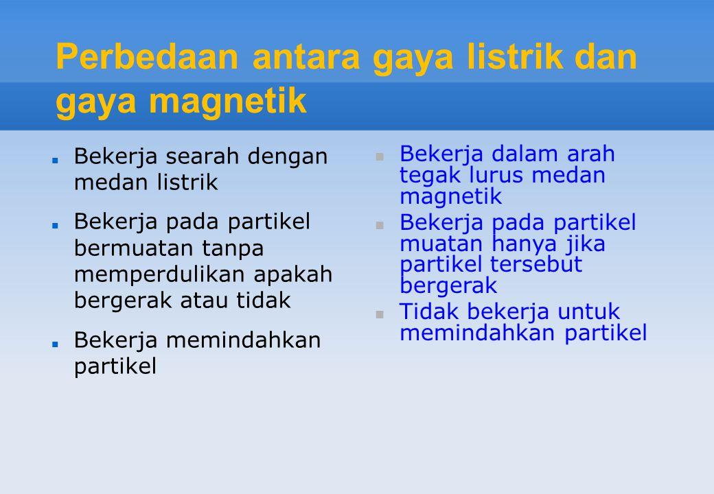 Perbedaan antara gaya listrik dan gaya magnetik