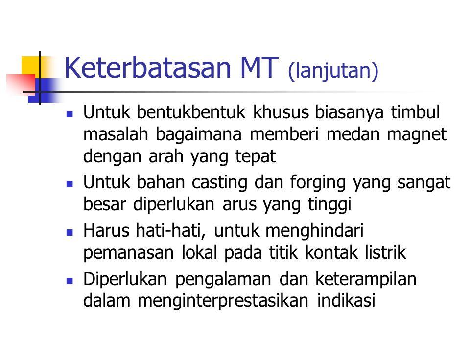 Keterbatasan MT (lanjutan)
