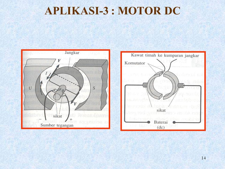 APLIKASI-3 : MOTOR DC