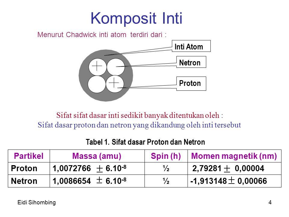 Komposit Inti Inti Atom Netron Proton