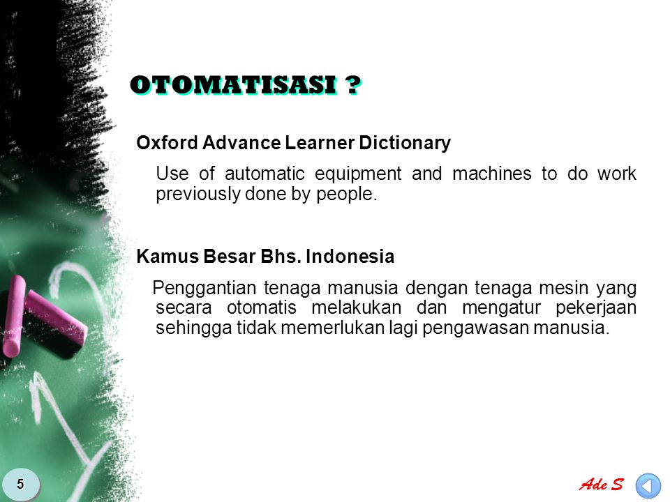 OTOMATISASI Oxford Advance Learner Dictionary