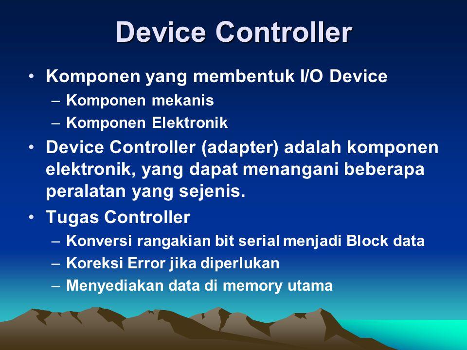 Device Controller Komponen yang membentuk I/O Device