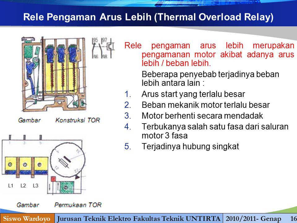 Rele Pengaman Arus Lebih (Thermal Overload Relay)