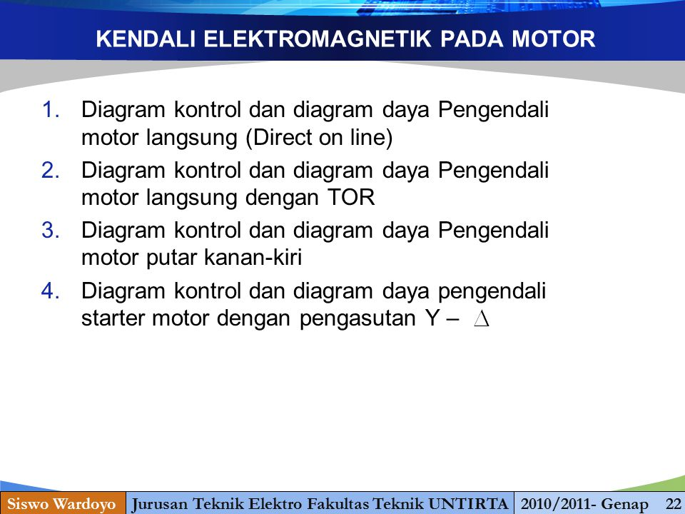 KENDALI ELEKTROMAGNETIK PADA MOTOR