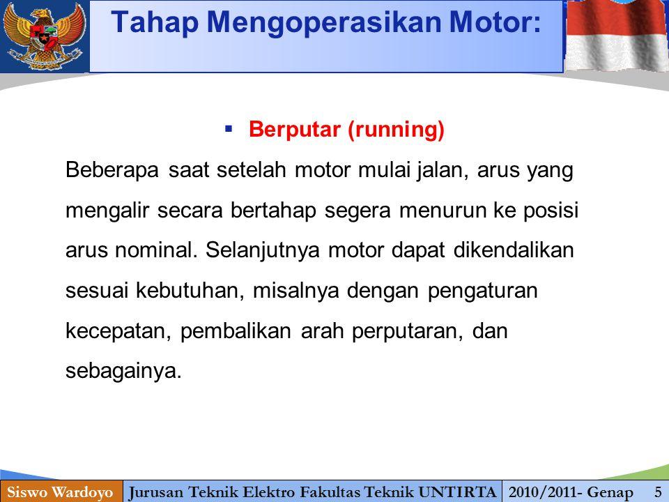 Tahap Mengoperasikan Motor: