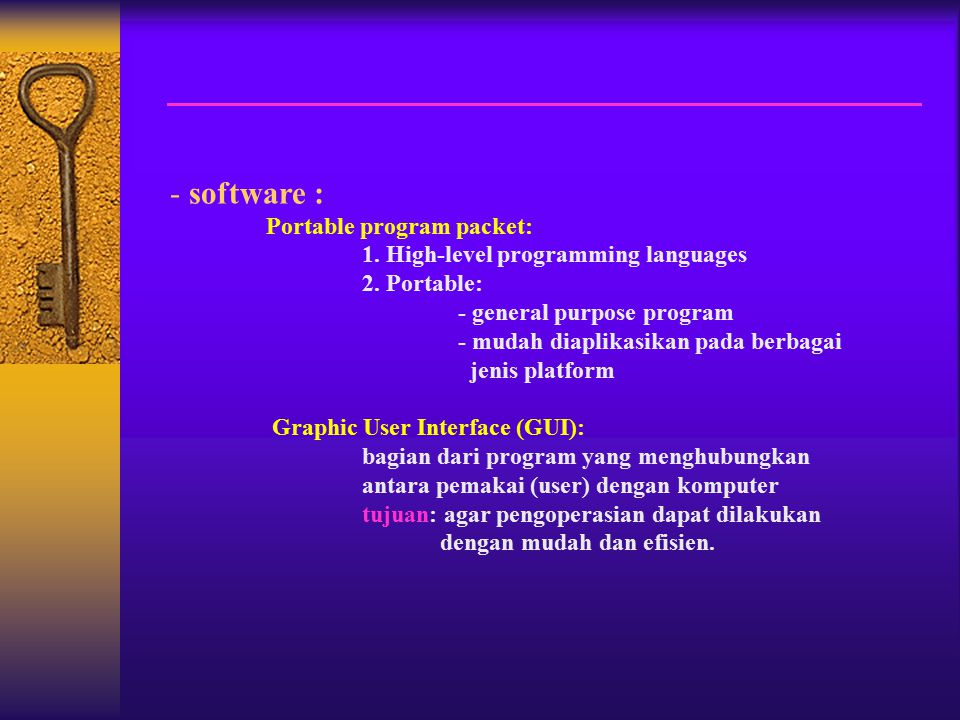 software : Portable program packet: