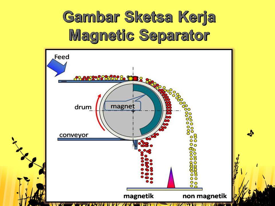 Gambar Sketsa Kerja Magnetic Separator