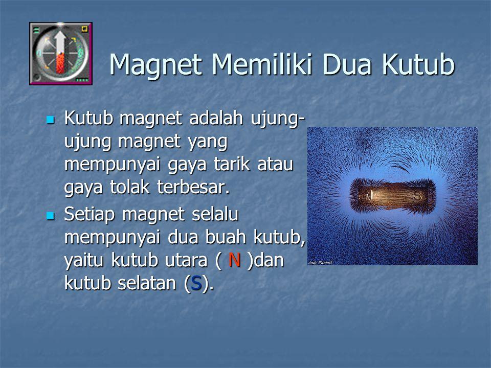 Magnet Memiliki Dua Kutub