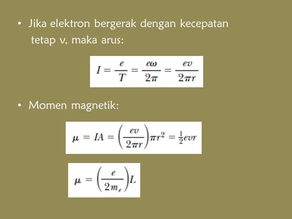 Jika elektron bergerak dengan kecepatan