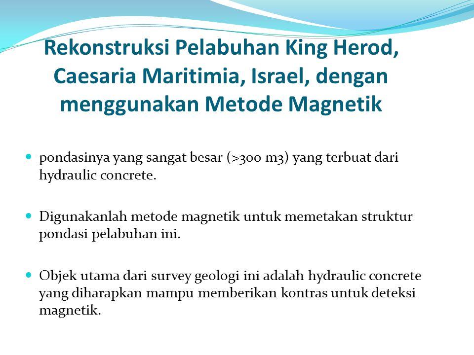 Rekonstruksi Pelabuhan King Herod, Caesaria Maritimia, Israel, dengan menggunakan Metode Magnetik