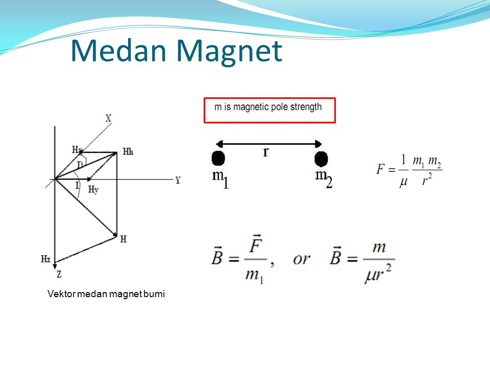 Vektor medan magnet bumi