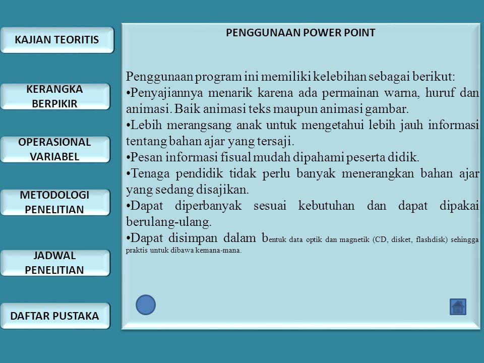 PENGGUNAAN POWER POINT